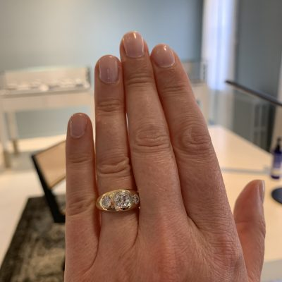 Remake/Redesign: Three Stone Dome Ring