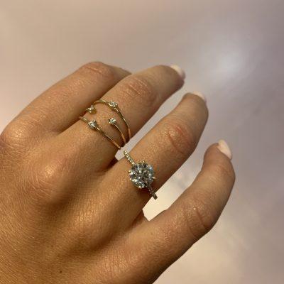 Custom: Round Brilliant Beacon Engagement Ring