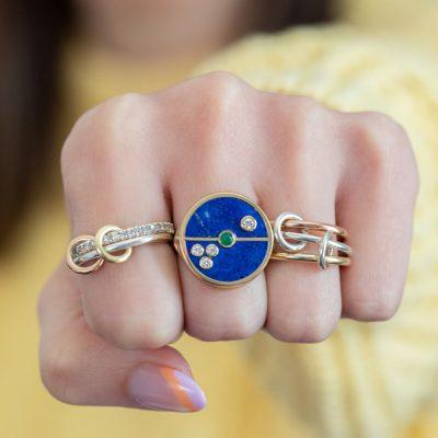Mini Gigi Diamond Necklace in Lapis