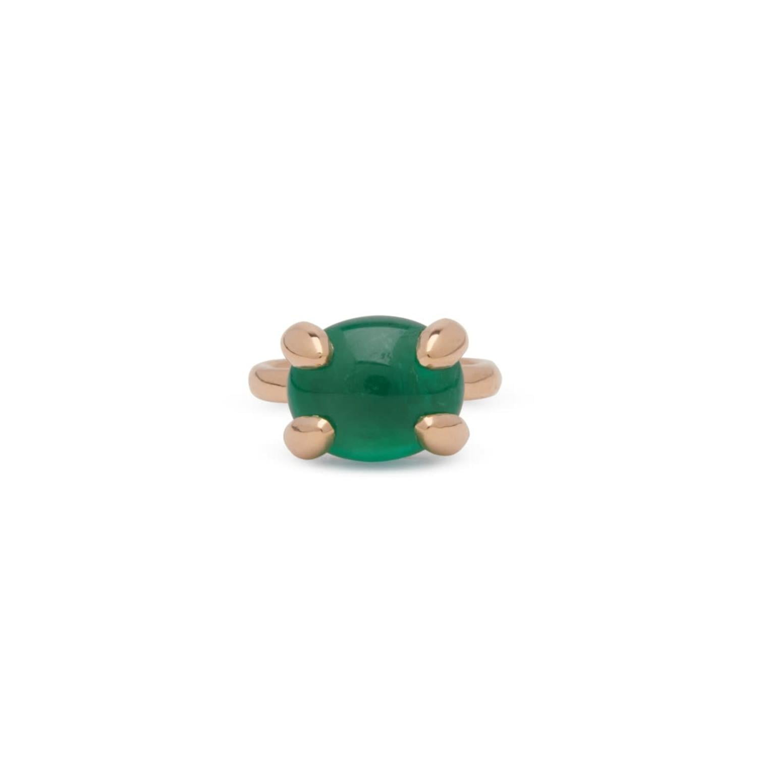 Oversized Cabochon Ring In Emerald