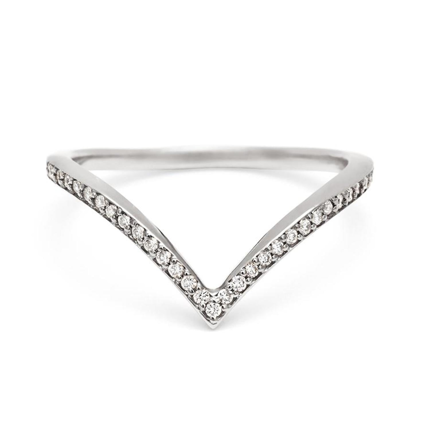 Diamond Dusted Chrysalis Band in Platinum with White Diamonds