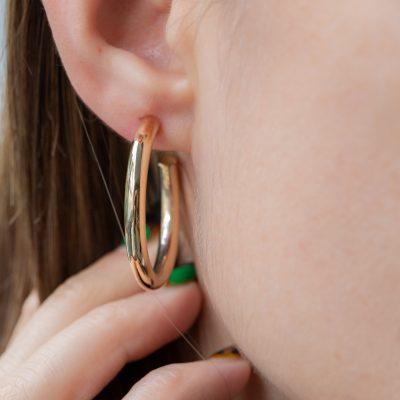 4x35mm Open Hoop Earrings